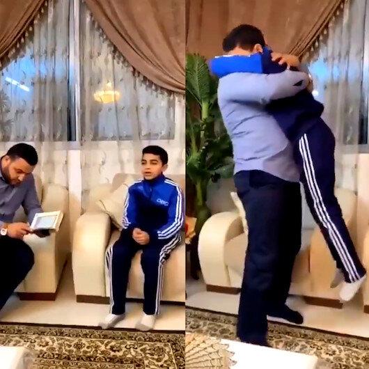 Filistinde tüyleri diken diken eden an: Küçük çocuk hafız oluşunu böyle kutladı