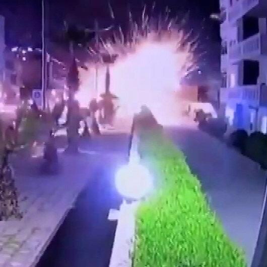 Irakta ABD üssüne füzeli saldırı kameraya yansıdı