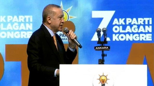 Cumhurbaşkanı Erdoğan: Kendi kurultaylarını gladyatör arenasına dönüştürenler, kongrelerimize çamur atıyor