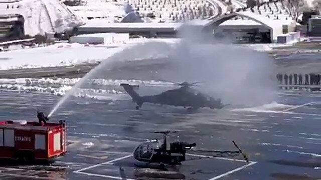 Emniyet Genel Müdürlüğü'nden 'ATAK' helikopterine su takı töreni
