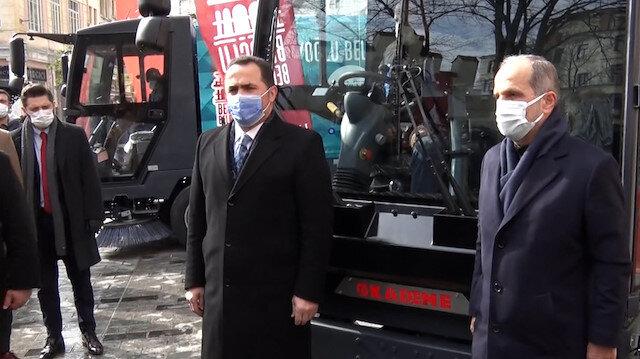 Kademe A.Ş'nin yerli ve milli olarak ürettiği süpürme araçları Beyoğlu'nda mesaiye başlıyor
