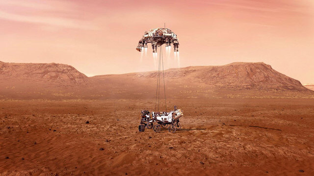 NASA kaşifi Perseverance Mars'a indi