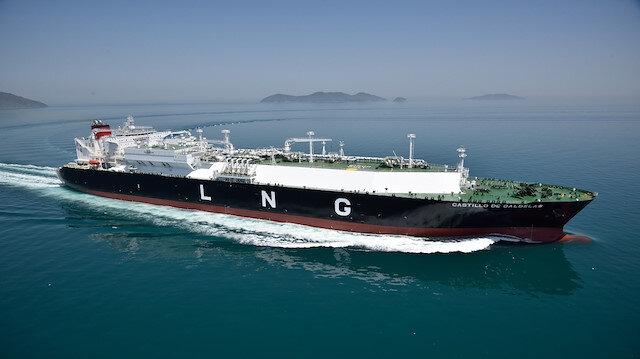 ABD'den yola çıkan dev LNG gemisi Türkiye'de