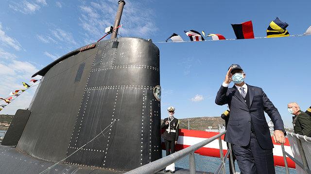 Milli Savunma Bakanı Hulusi Akar TCG Gür denizaltısını ziyaret etti: Üstün savaş gücüne sahip