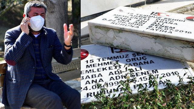 Ömer Çelik'ten mezarları tahrip edilen ikiz şehitlerin babasına söz: Saldırganlar yakalanacak
