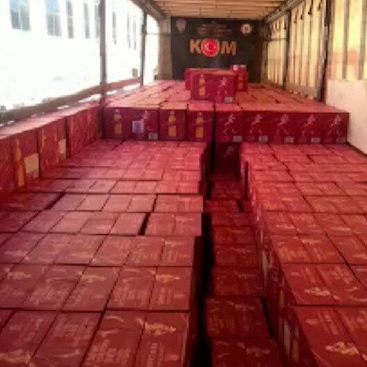 Mardinde 5 milyon lira değerinde kaçak içki ele geçirildi