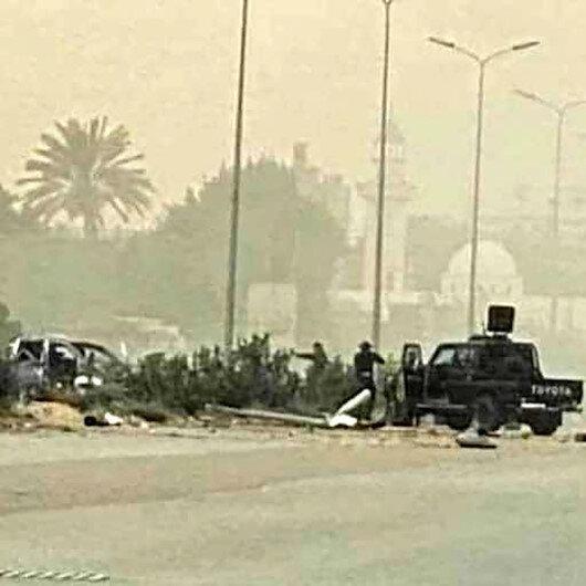 Libya İçişleri Bakanı Başağa'ya yapılan suikast girişimine ait görüntüler ortaya çıktı