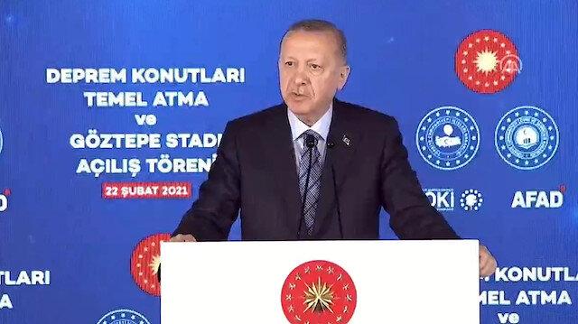 Cumhurbaşkanı Erdoğan İzmir'de: 5 bin deprem konutu bu yaz teslim edilecek