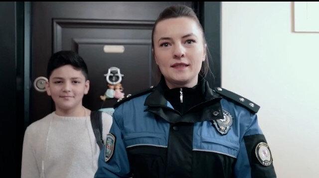 Samsun polisinden hırsızlık olaylarına dikkat çekmek için
