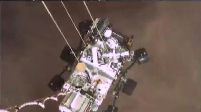 NASA'nın uzay aracı Perseverance'ın Mars'a iniş anına ait görüntüler paylaşıldı