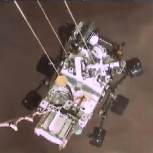 NASAnın uzay aracı Perseveranceın Marsa iniş anına ait görüntüler paylaşıldı