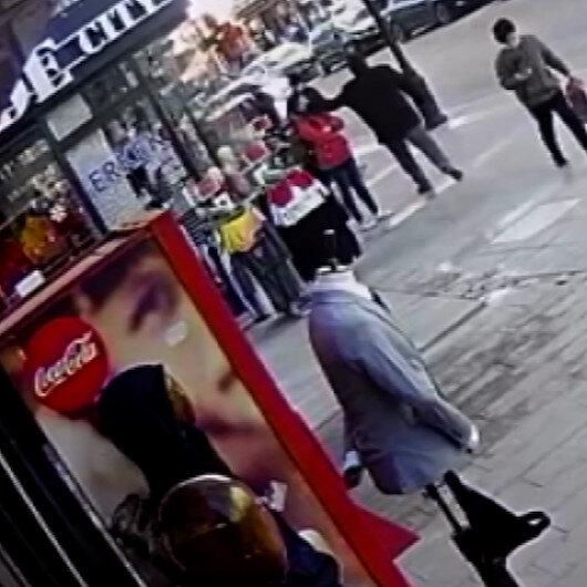 Kaldırımda bekleyen 13 yaşındaki Dileke yumruklu saldırı