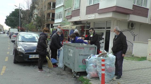 CHP'li vatandaşlar grev kararına tepki gösterip belediyeye destek verdi:  Sokak sokak çöp topladılar