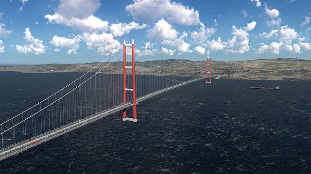 1915 Çanakkale Köprüsü'nde önemli gelişme: Köprü yolu kuruluyor