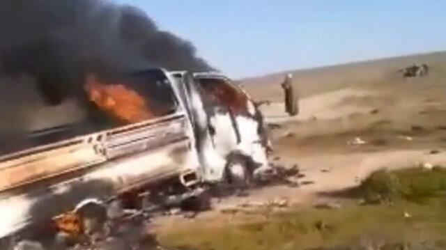Suriye'de çiftçileri taşıyan aracın geçişi sırasında mayın patladı: 5 ölü