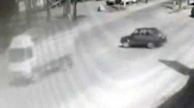 Konya'da kısıtlamada otomobiliyle drift yapan maganda kamerada
