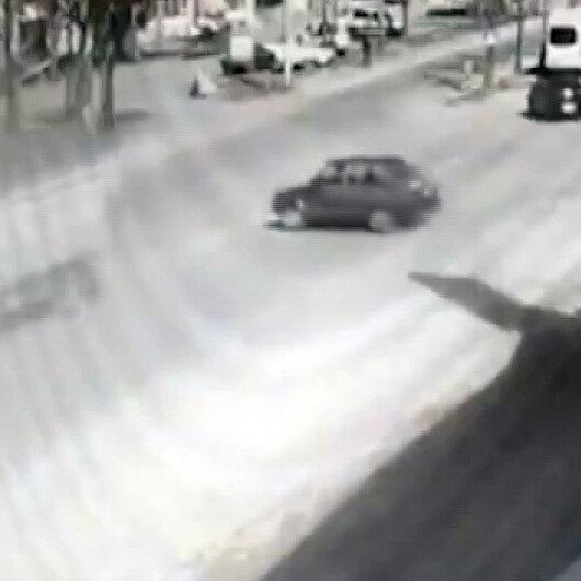 Konyada kısıtlamada otomobiliyle drift yapan maganda kamerada