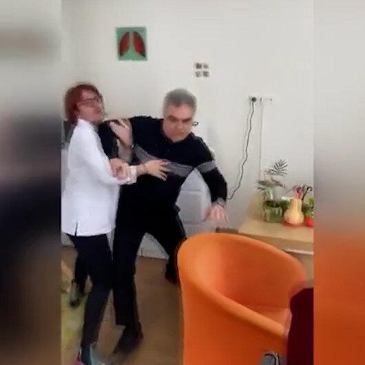 İzmirde doktor hasta yakınlarına saldırdı