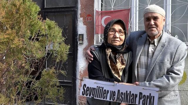 79 yaşındaki Memduh Amca, felç geçiren eşi için sokağı çiçek bahçesine çevirdi