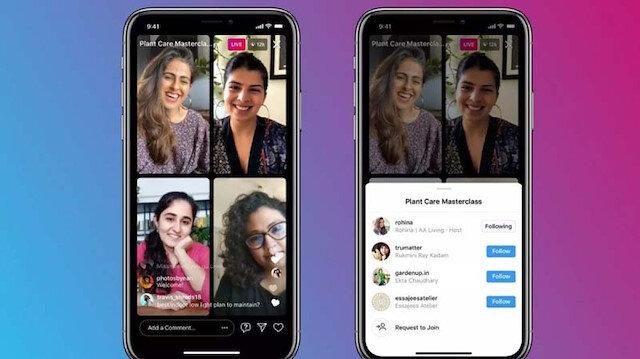 Instagram'a yeni özellik: Canlı yayın katılımcı sayısı 4'e yükseltildi