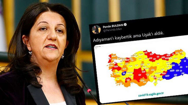 HDP'li Pervin Buldan koronavirüs risk haritasında algı yapmaya kalkıştı cevabını aldı