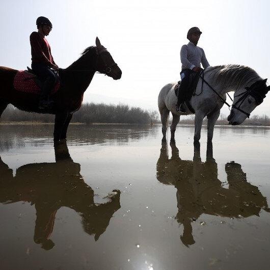 على ظهور الخيول.. جولات لاستكشاف الطبيعة في بورصة التركية