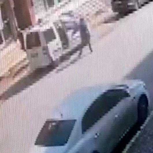 Ümraniyede otomobildekilere silahlı saldırı kamerda