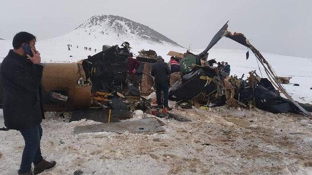 Kırıma uğrayan helikopterin ilk görüntüsü