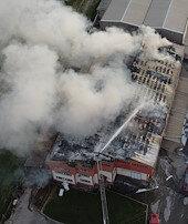 Denizlide tekstil fabrikasında yangın çıktı