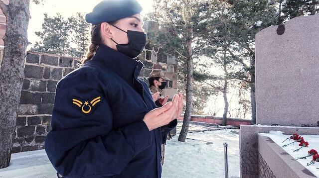 Kadın jandarmalardan tarihe geçen kadın kahraman Nene Hatun'a ziyaret