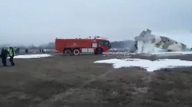 Kazakistan'da An-26 tipi askeri uçak düştü: 4 ölü, 2 yaralı