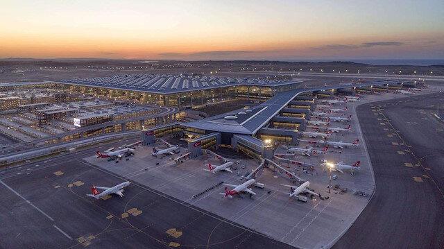 İstanbul Havalimanı günlük ortalama 465 uçuşla Avrupa'da yine zirvede