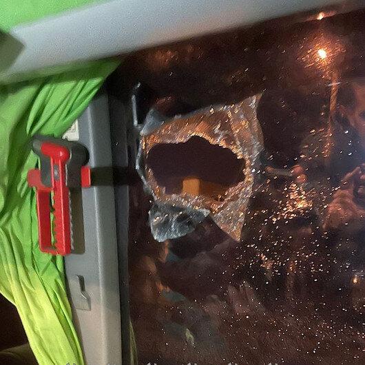 GZT Giresunspor takım otobüsü Samsunda taşlı saldırıya uğradı