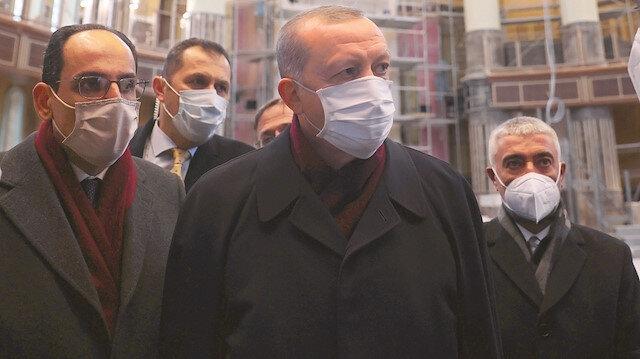 Taksim Camii'nin yüzde 99'u tamam