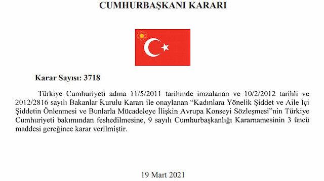 Türkiye İstanbul Sözleşmesi'ni feshetti