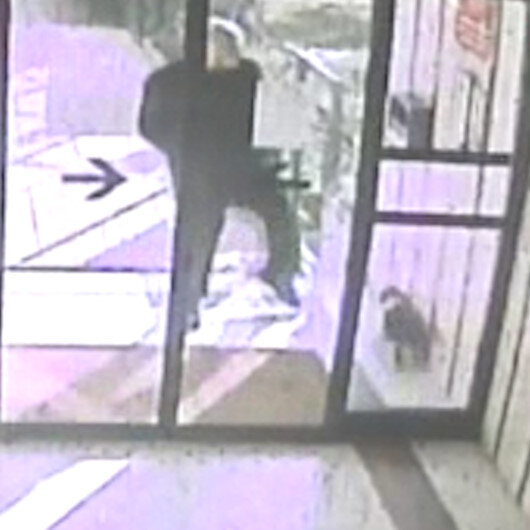 Bakırköy'de kediye tekme atan adam kamerada