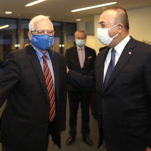 Dışişleri Bakanı Mevlüt Çavuşoğlu, Josep Borell ile görüştü