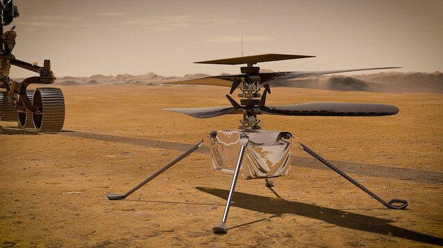 Mars'taki ilk helikopter uçuşunun Nisan başında gerçekleşmesi bekleniyor