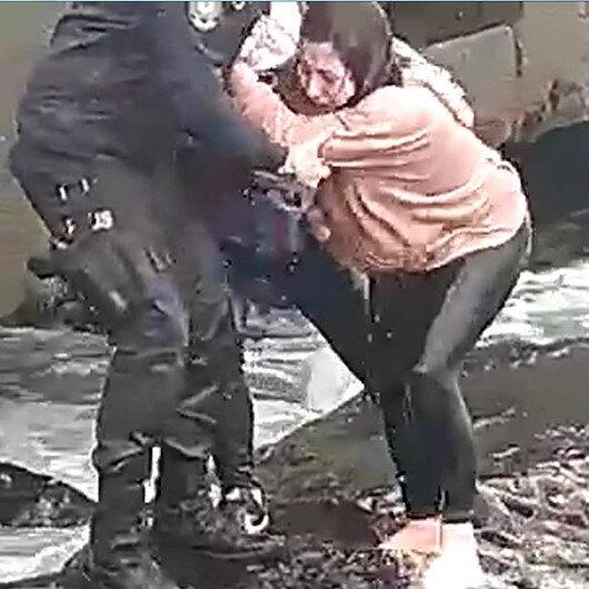 Trabzonda denize düşen 15 yaşındaki kızı bekçi kurtardı