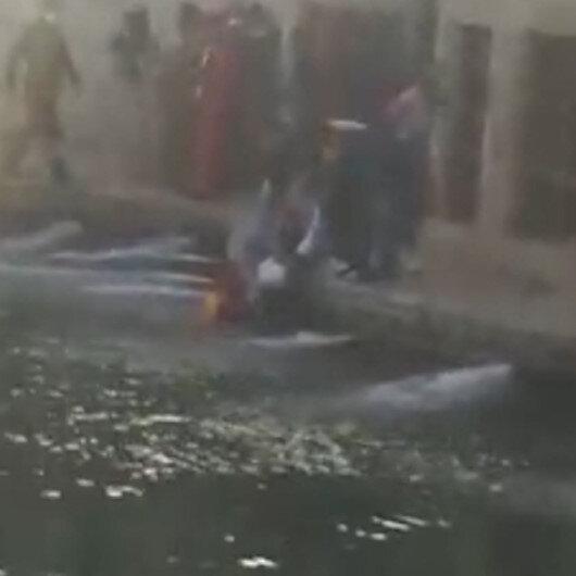 Balıklıgöle düşen genç kızı vatandaşlar kurtardı