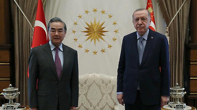 Cumhurbaşkanı Erdoğan Çin Dışişleri Bakanı Wang Yi'yi kabul etti