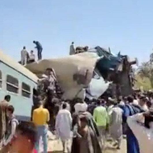 Mısırda iki tren çarpıştı: En az 50 yaralı