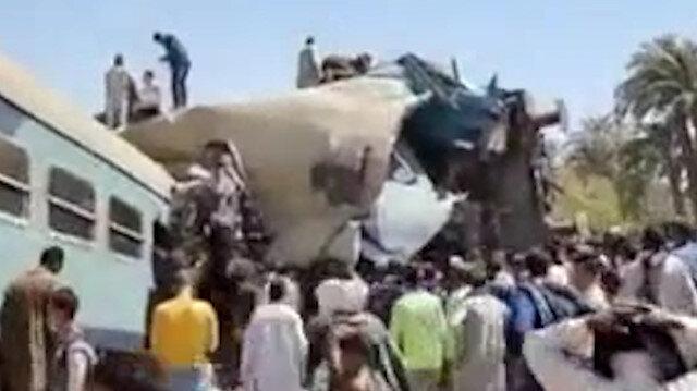 Mısır'da iki tren çarpıştı: En az 50 yaralı