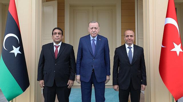 Cumhurbaşkanı Erdoğan ve Libya heyetinin görüşmesi başladı