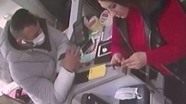 Eyüpsultan'da saniyeler içinde telefon hırsızlığı kamerada