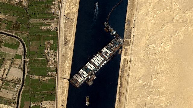 Göktürk-1'in gözünden Süveyş Kanalı