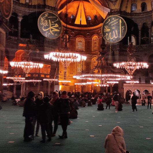 Ayasofya Camiinde 87 yıl sonra Berat Kandili heyecanı