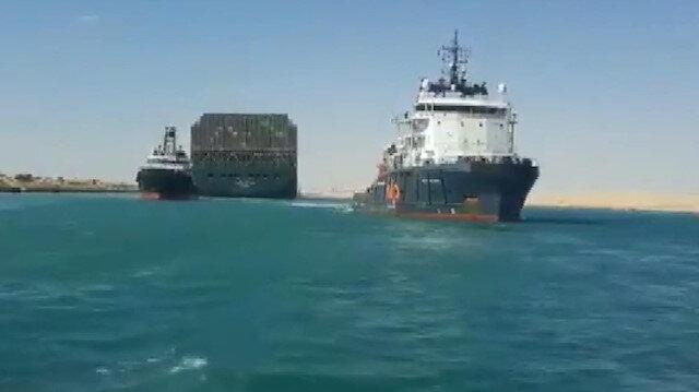 Süveyş Kanalı'nı tıkayan 'Ever Given' gemisi kurtarıldı