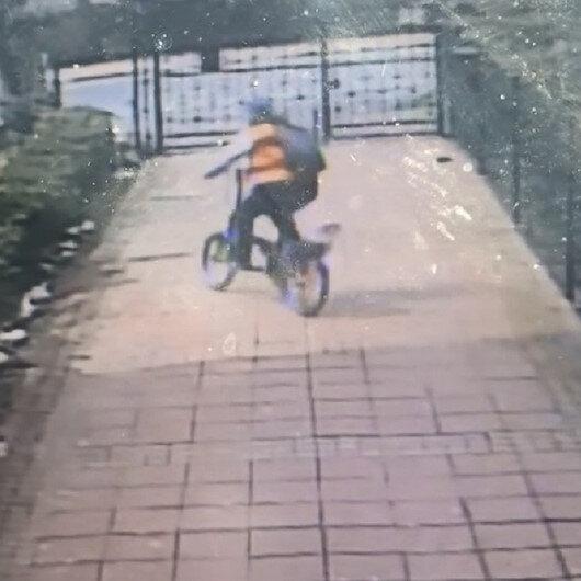 Beylikdüzünde apartmandan çaldığı bisikleti sürerek gitti