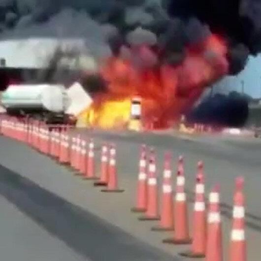 Brezilyada deodorant yüklü kamyon bomba gibi patladı